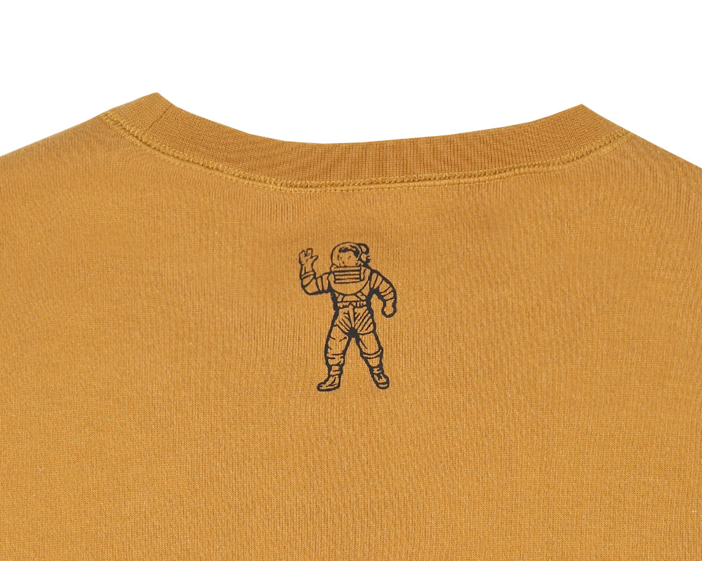 STRAIGHT LOGO REVERSIBLE CREWNECK - GOLDEN