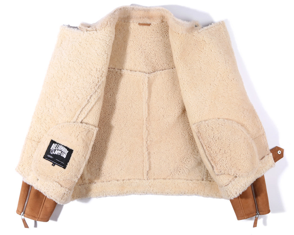 Billionaire Boys Club Pre-Spring '17 WOLFMAN SHEARLING JACKET - TAN