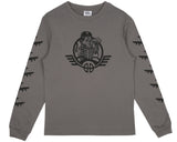 Billionaire Boys Club Spring '17 B-52 PRINT L/S T-SHIRT - DARK GREY
