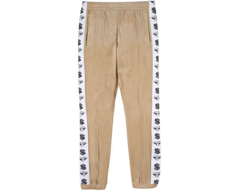 Billionaire Boys Club Japan Spring '19 VELOUR TRACK PANTS - TAN