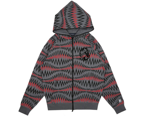 Billionaire Boys Club Spring '19 SOUNDWAVE FULL ZIP HOOD - GREY