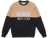 Billionaire Boys Club Fall '17 REFLECTIVE CUT & SEW CREWNECK - SAND/BLACK