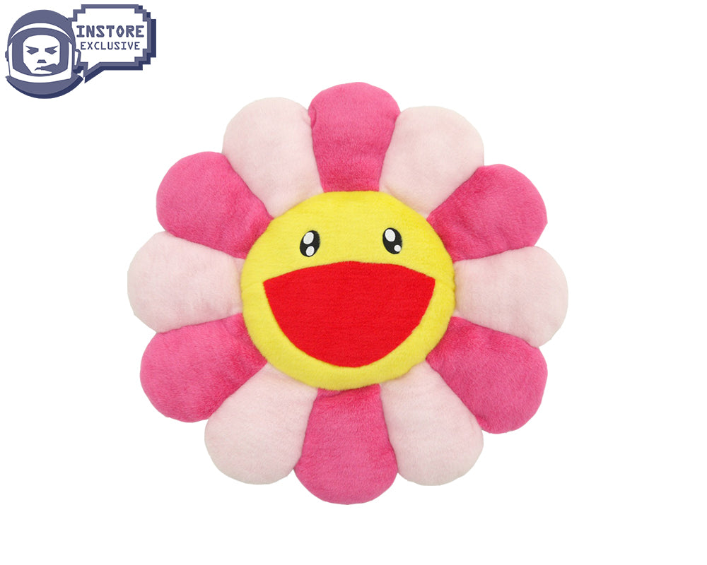 MURAKAMI FLOWER CUSHION 30CM - PINK/YELLOW