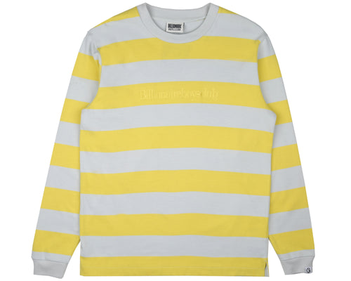 HEAVY STRIPED L/S T-SHIRT - YELLOW