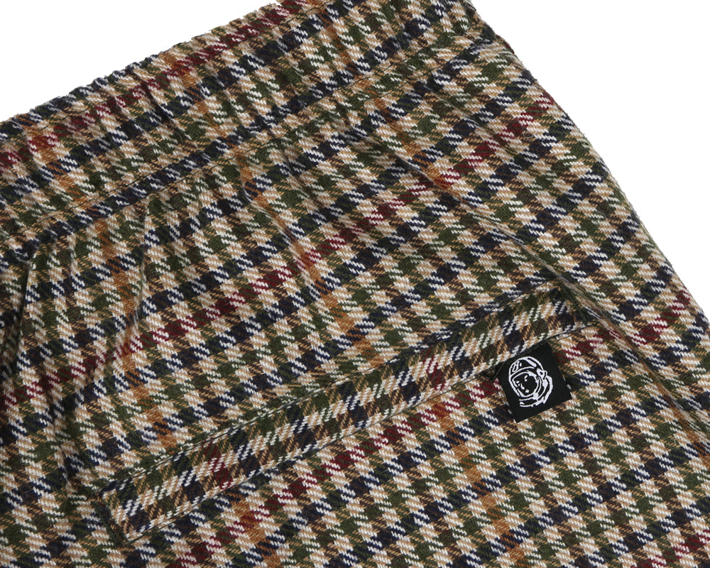 Billionaire Boys Club Pre-Spring '18 WOOL CHECK TRACK PANT - BROWN CHECK
