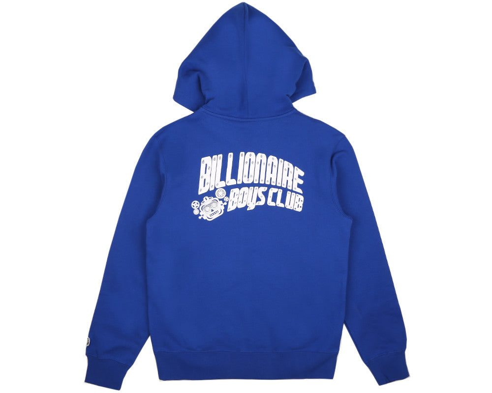 BBCICECREAM MECHANICS ZIP-THROUGH HOOD - BLUE