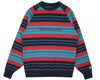 Billionaire Boys Club Pre-Fall '19 MULTI STRIPE RAGLAN CREWNECK - NAVY
