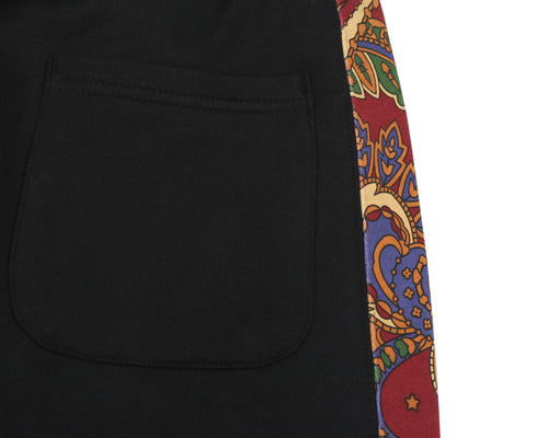 PAISLEY SWEATPANT - BLACK