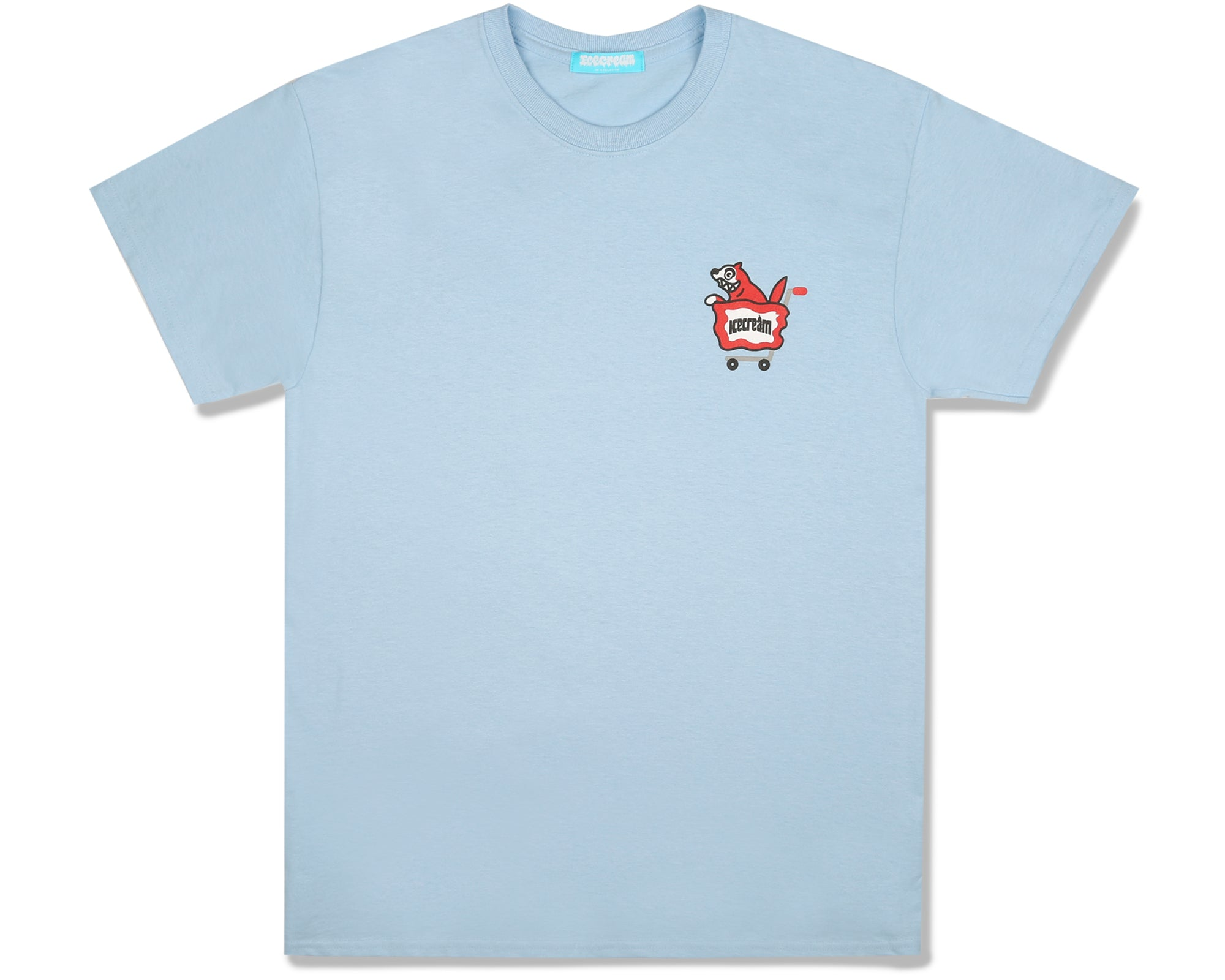 RUNNING DOG T-SHIRT - LIGHT BLUE