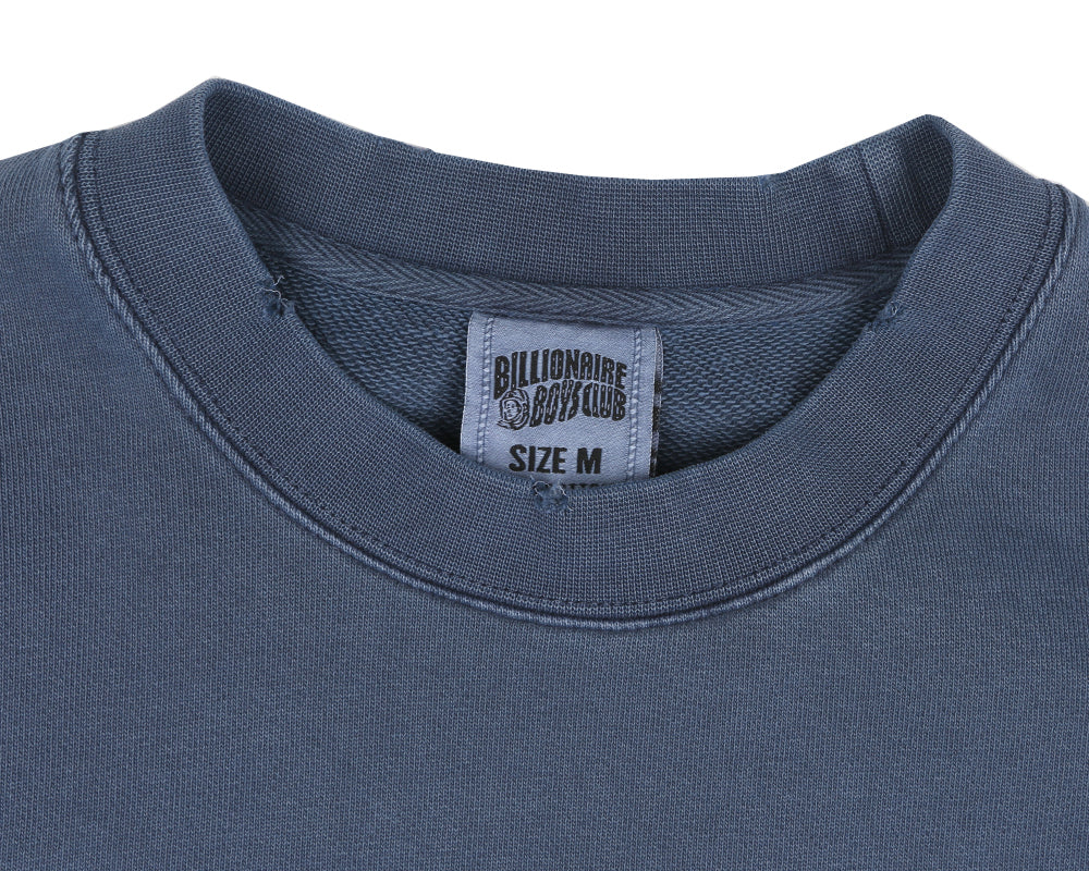 Billionaire Boys Club Pre-Spring '18 DAMAGED CREWNECK SWEATSHIRT - NAVY