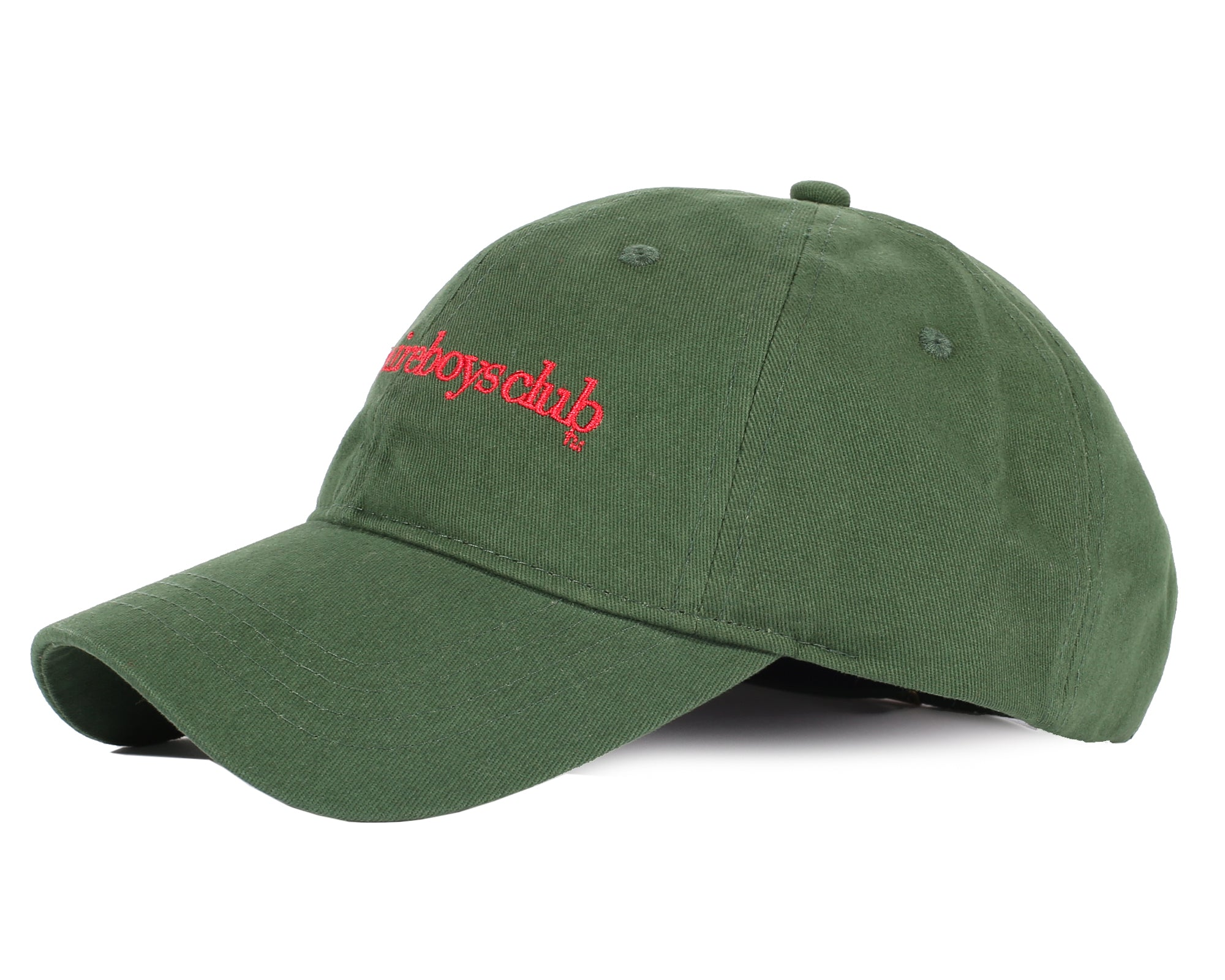 EMBROIDERED CURVED VISOR CAP - GREEN