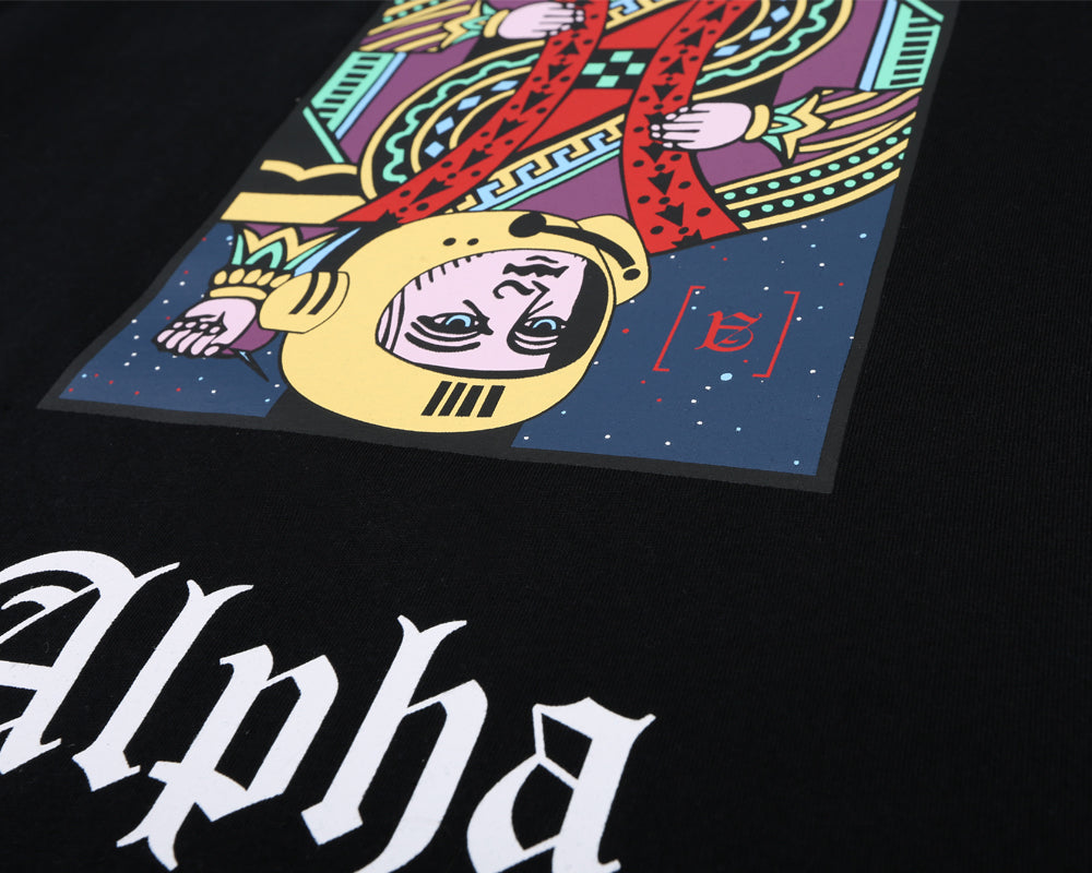 ALPHA OMEGA L/S T-SHIRT - BLACK