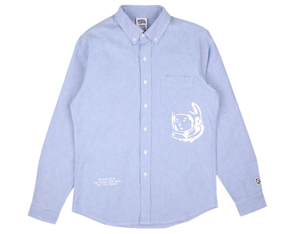Billionaire Boys Club Fall '16 MANTRA PATCH OXFORD SHIRT - SKY BLUE