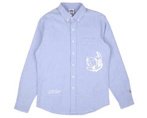Billionaire Boys Club MANTRA PATCH OXFORD SHIRT - SKY BLUE