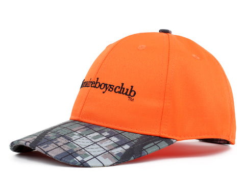 Billionaire Boys Club Fall '18 CLIMBING CAMO PEAK BASEBALL CAP - ORANGE