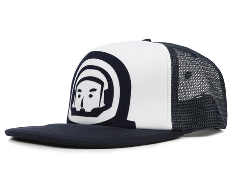 Billionaire Boys Club Fall '19 FLOCK PRINT ASTRONAUT TRUCKER CAP - NAVY