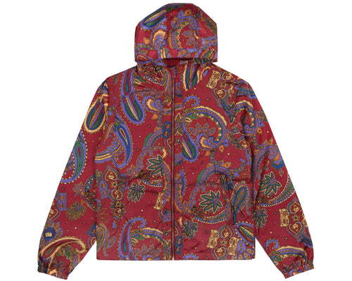 PAISLEY NYLON JACKET - RED