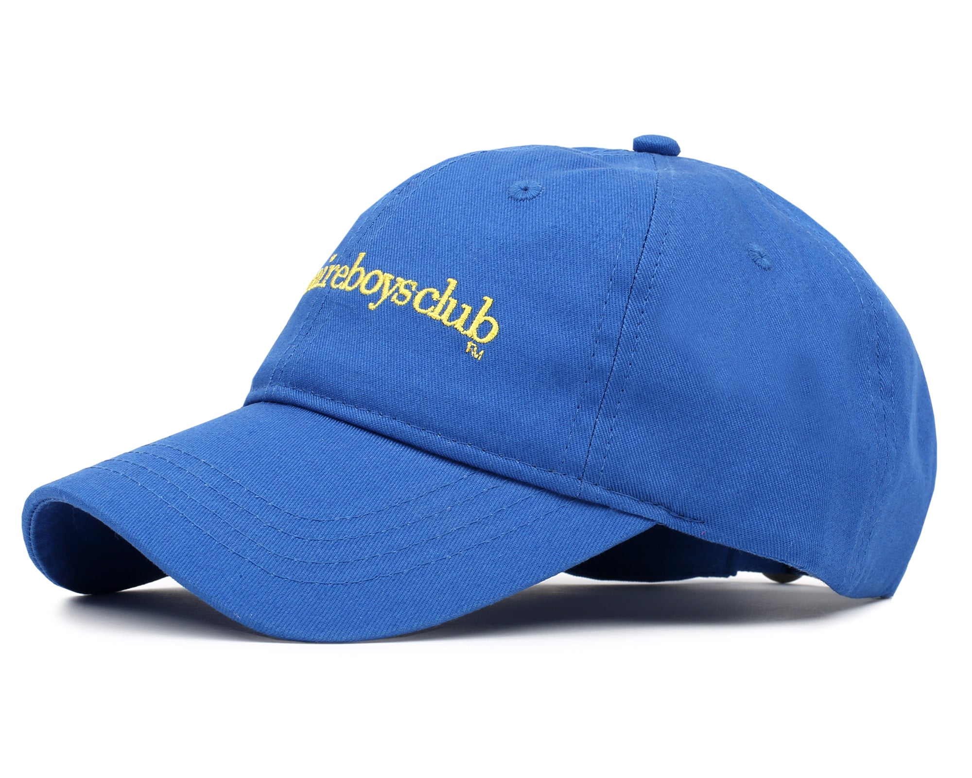 EMBROIDERED CURVED VISOR CAP - BLUE