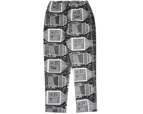 Billionaire Boys Club Pre-Spring '18 SKYSCRAPER BEACH PANT - BLACK / WHITE