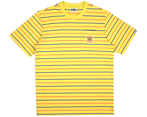 Billionaire Boys Club Pre-Fall '19 WOVEN STRIPE POCKET T-SHIRT - YELLOW