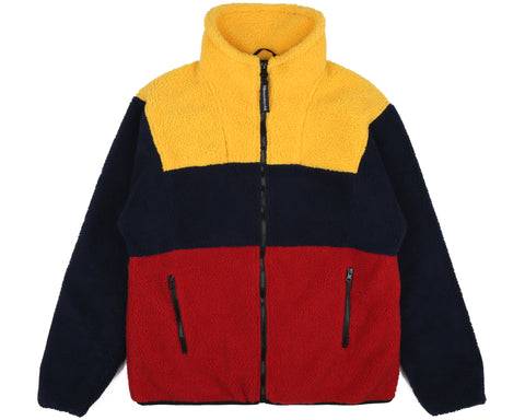 Billionaire Boys Club Spring '19 COLOUR BLOCK FLEECE - NAVY