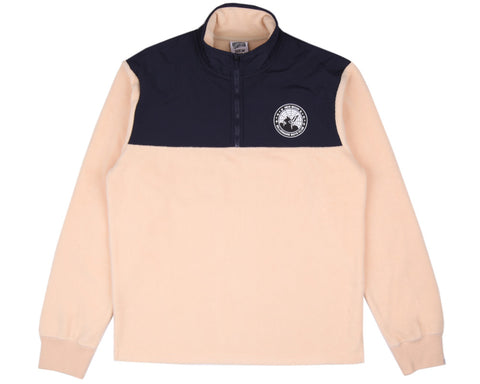 Billionaire Boys Club HALF-ZIP FUNNEL SWEATSHIRT - BEIGE/NAVY
