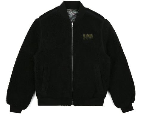 Billionaire Boys Club Pre-Spring '19 REVERSIBLE FLEECE BOMBER - BLACK