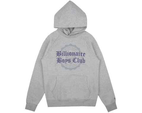 Billionaire Boys Club Fall '18 COLLEGE POPOVER HOOD - HEATHER GREY