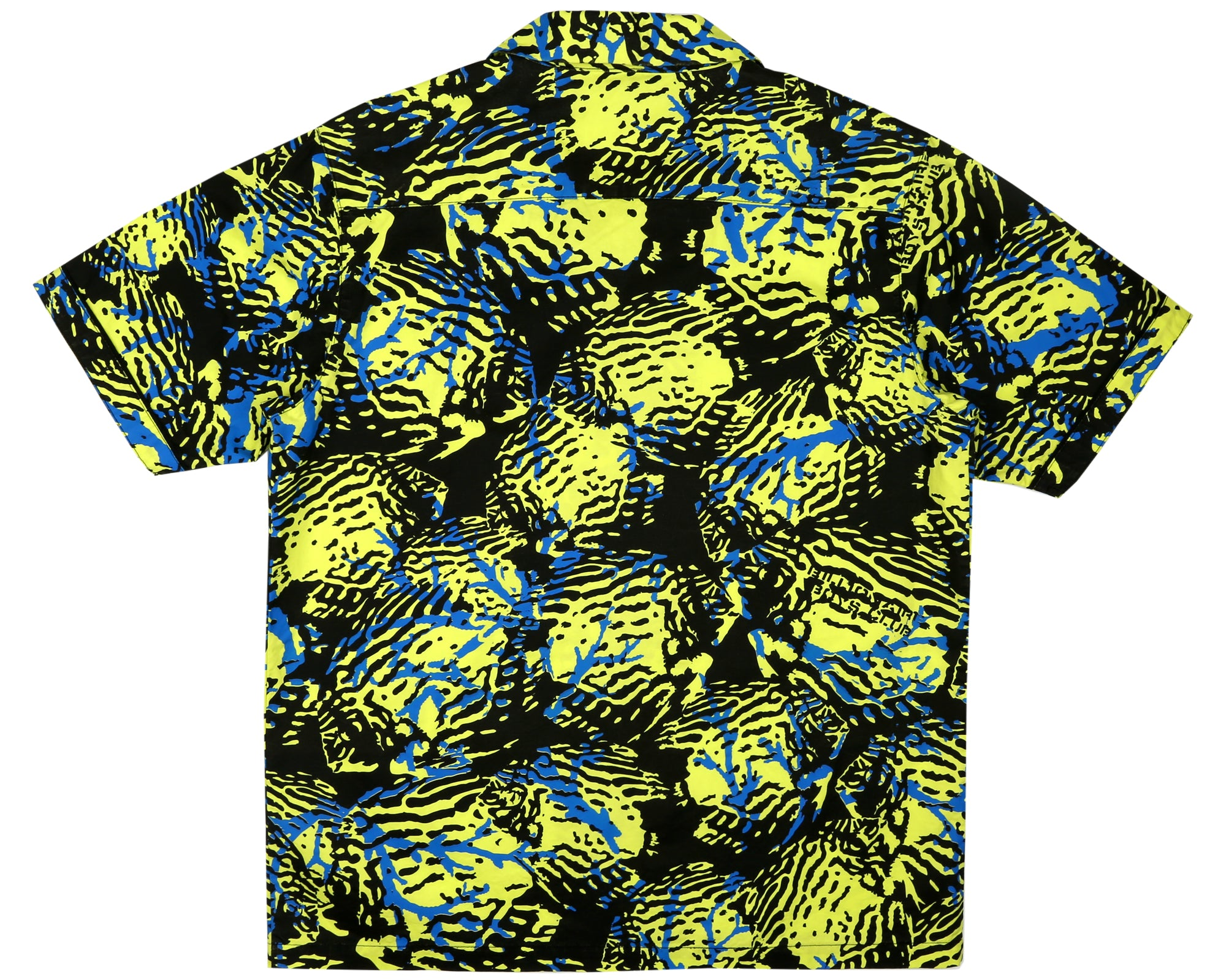 FISH CAMO S/S SHIRT - YELLOW