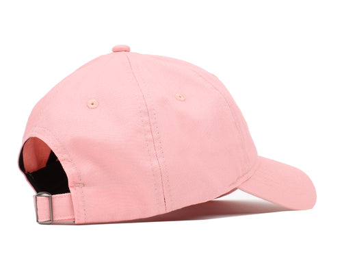 EMBROIDERED CURVED VISOR CAP - CORAL