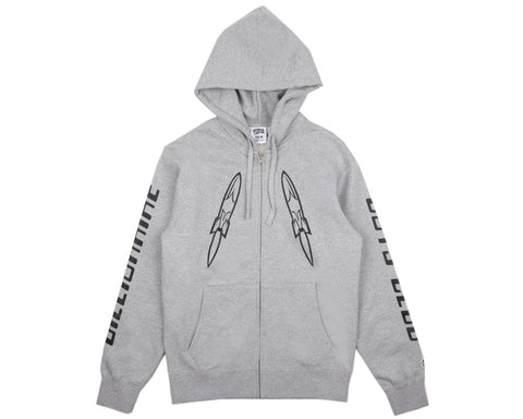 BBCICECREAM DIGITAL ZIP-THROUGH HOOD - GREY/BLACK