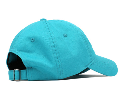 EMBROIDERED CURVED VISOR CAP - TEAL