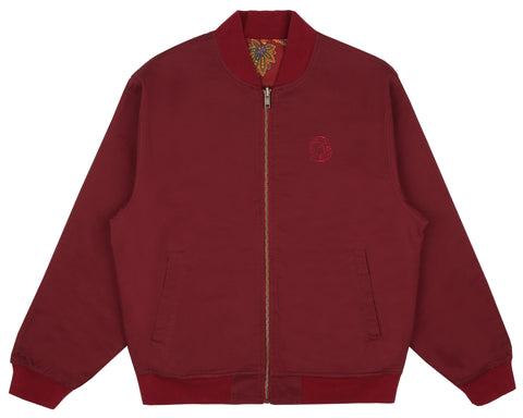 Billionaire Boys Club Fall '18 PAISLEY REVERSIBLE BOMBER JACKET - RED