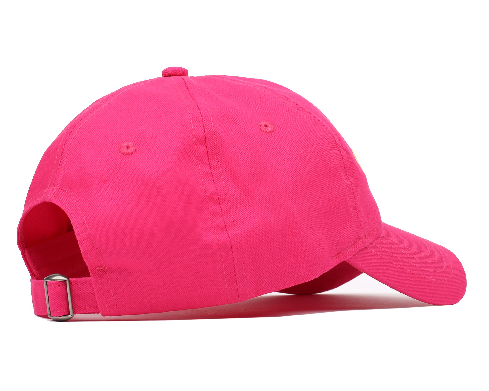 EMBROIDERED CURVED VISOR CAP - PINK