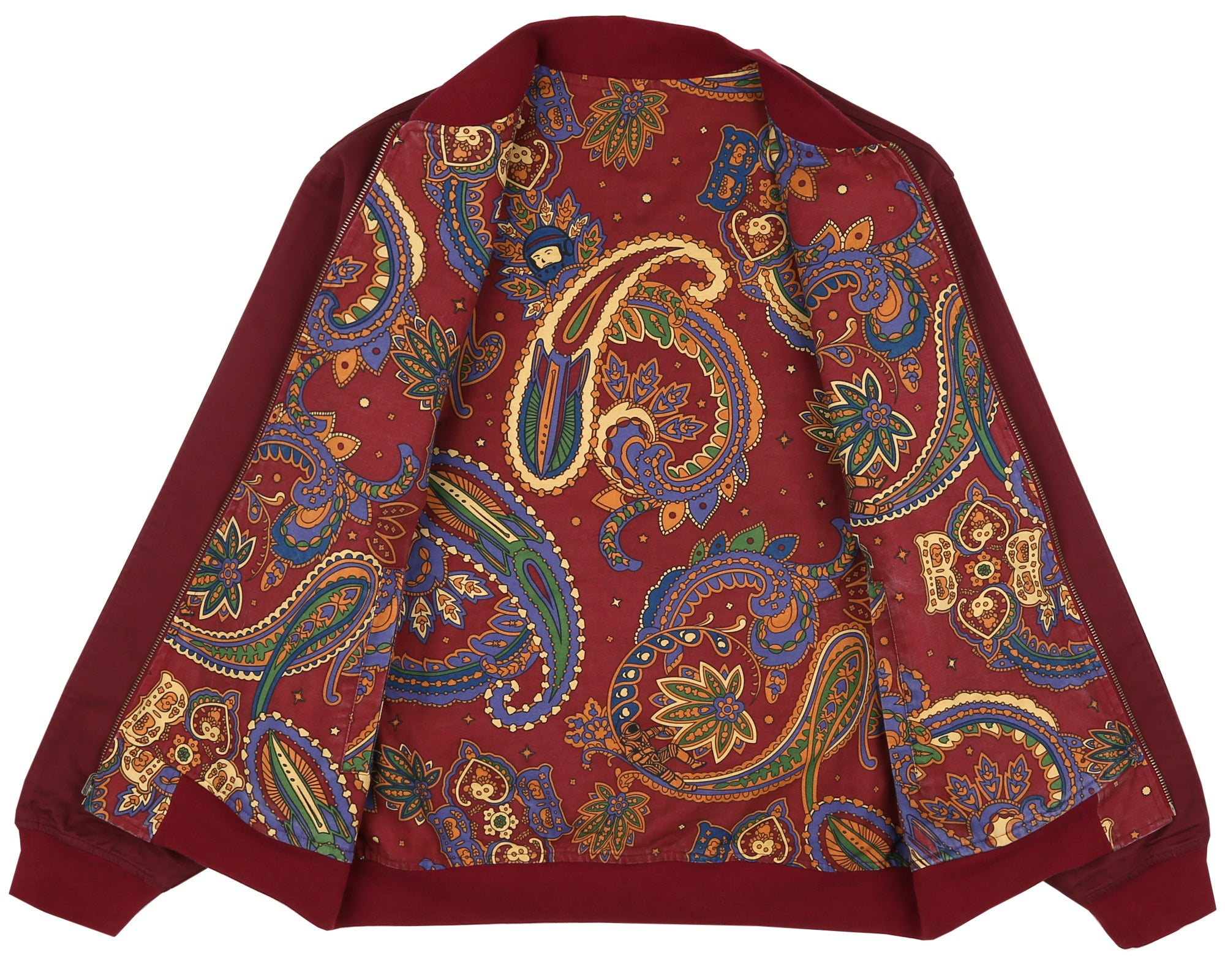PAISLEY REVERSIBLE BOMBER JACKET - RED