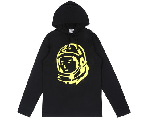 Billionaire Boys Club Fall '17 HELMET L/S HOODED T-SHIRT BLACK