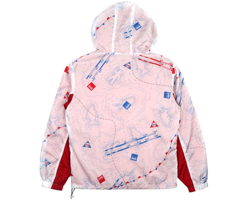 NAUTICAL PRINT NYLON WINDBREAKER - WHITE