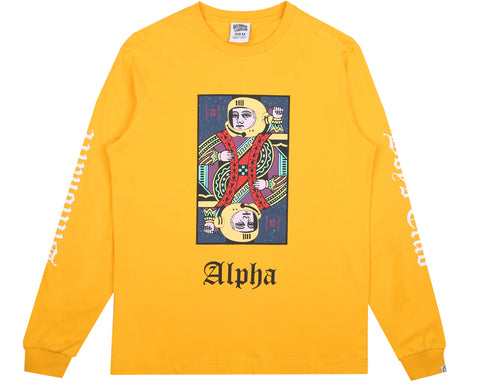 Billionaire Boys Club Spring '18 ALPHA OMEGA L/S T-SHIRT - YELLOW