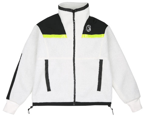 Billionaire Boys Club Pre-Spring '18 HI-VIS SHERPA FLEECE - WHITE