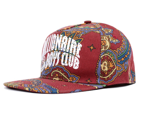 Billionaire Boys Club Fall '18 ARCH LOGO PAISLEY SNAPBACK CAP - RED