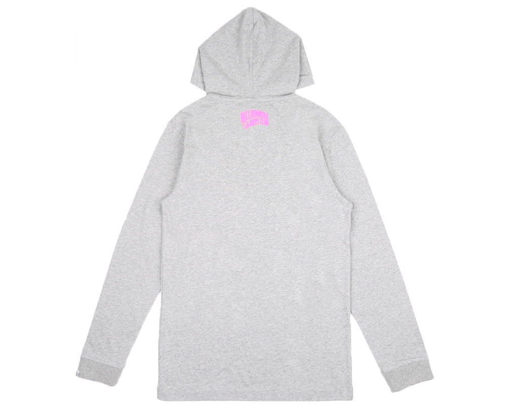 Billionaire Boys Club Fall '17 HELMET L/S HOODED T-SHIRT HEATHER GREY
