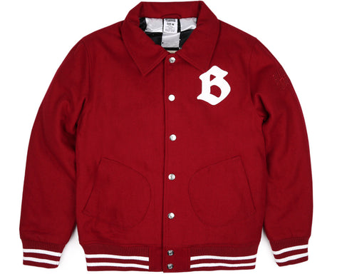 Billionaire Boys Club Pre-Spring '17 CAR CLUB WOOL JACKET - BURGUNDY