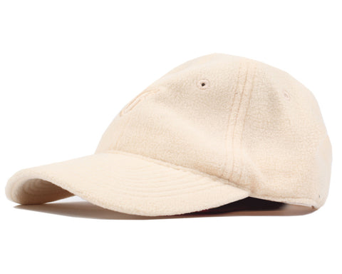 Billionaire Boys Club POLAR FLEECE CURVED VISOR 6-PANEL CAP - BEIGE