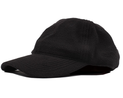 Billionaire Boys Club POLAR FLEECE CURVED VISOR 6-PANEL CAP - BLACK