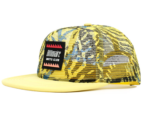 Billionaire Boys Club Pre-Fall '19 FISH CAMO TRUCKER CAP - YELLOW