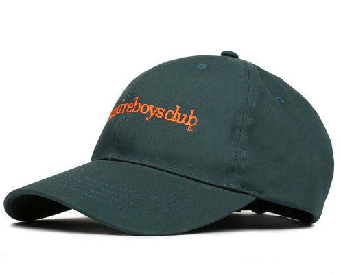 EMBROIDERED CURVE VISOR CAP - GREEN/ORANGE