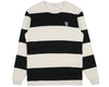Billionaire Boys Club Pre-Spring '19 STRIPED WAFFLE KNIT L/S T-SHIRT - BONE/BLACK