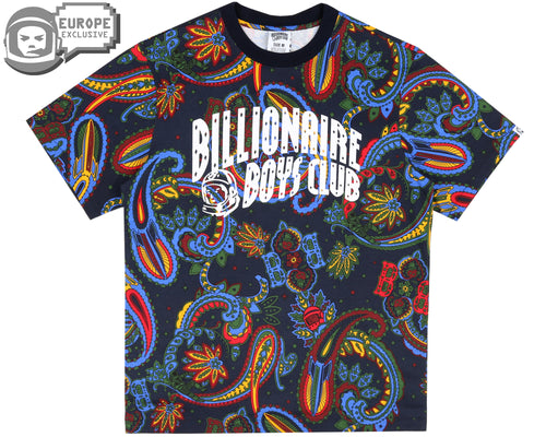 PAISLEY ALL OVER PRINT T-SHIRT - BLUE