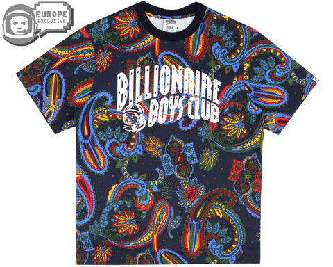 Billionaire Boys Club Fall '18 PAISLEY ALL OVER PRINT T-SHIRT - BLUE
