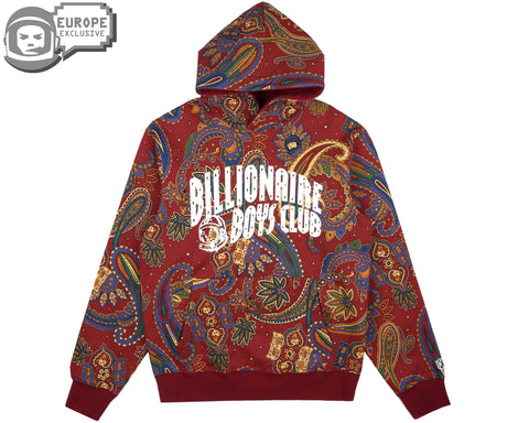 Billionaire Boys Club Fall '18 ALL OVER PRINT POPOVER HOOD - RED